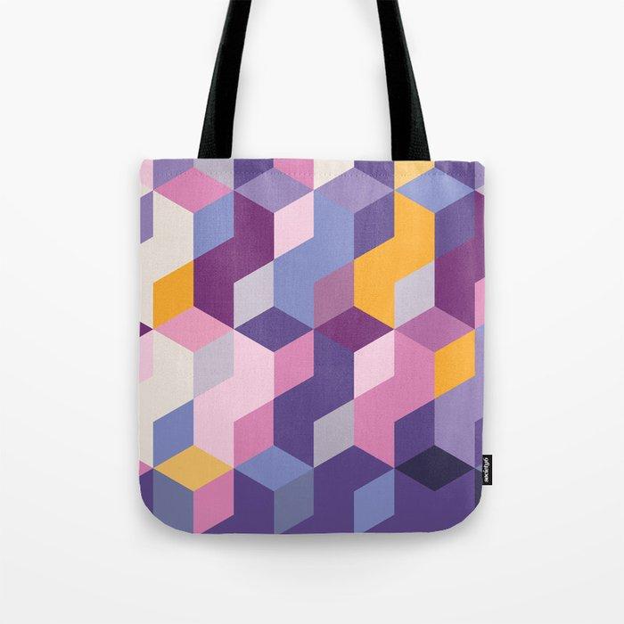 Violet Pattern Tote Bag