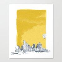dallas Canvas Prints featuring Dallas by Bas van Genugten