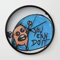 wreck it ralph Wall Clocks featuring Ralph by Leigh Elizabeth