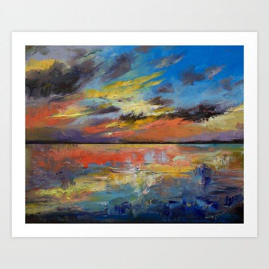 Key West Florida Sunset Art Print