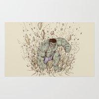 hulk Area & Throw Rugs featuring Hulk Smash by Alex Solis