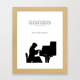 Glenn Gould, Thirty two short films about Glenn Gould,  François Girard, music poster, piano design Framed Art Print