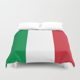 National Flag of Italy, High Quality Image Duvet Cover