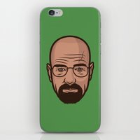 walter white iPhone & iPod Skins featuring Walter White by Michael Walchalk