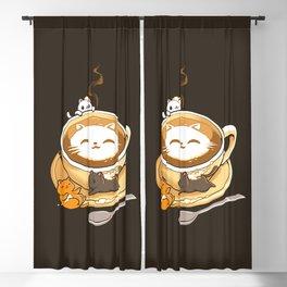 Latte Cat Blackout Curtain