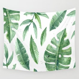 Leaves of the tropics Wall Tapestry