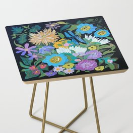 Dragonfly Floral Side Table
