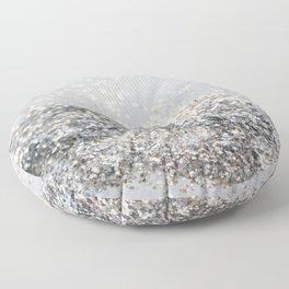 Silver Gray Glitter #2 #shiny #decor #art #society6 Floor Pillow
