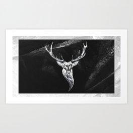 Deer in a montain Art Print