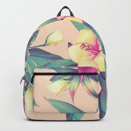 Blush Tropical Flowers Backpack