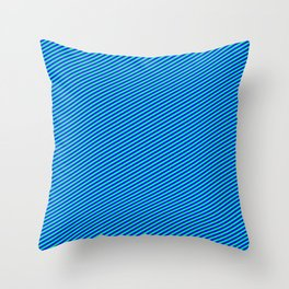 Green and Blue Colored Striped Pattern Throw Pillow