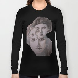 watercolor portrait of the Spirits in Her Head Long Sleeve T-shirt
