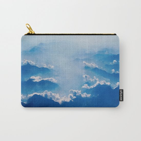 Blue mountains, white clouds Carry-All Pouch