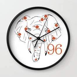 96 Elephants Wall Clock