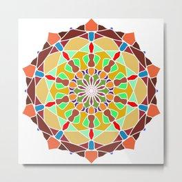 Colors Sun Mandala Metal Print