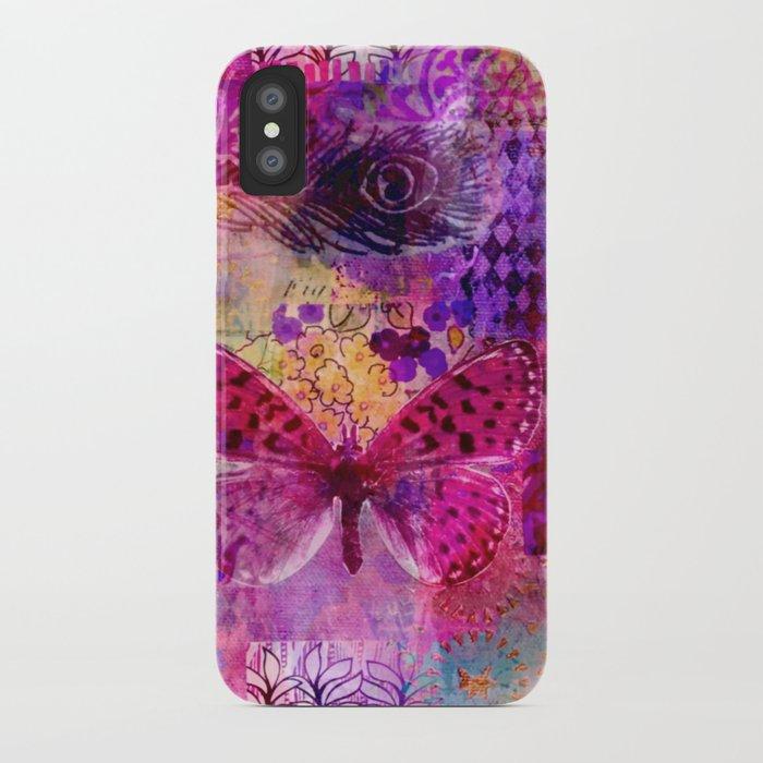Butterflies Dream In Pink iPhone Case