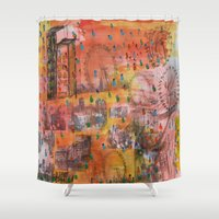 carnival Shower Curtains featuring Carnival by Verde Designs