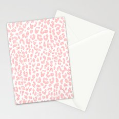 Pale Coral Leopard Stationery Cards