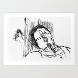 Warbot Sketch #032 Art Print