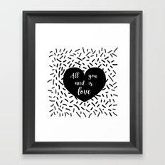 AYNIL Heart Framed Art Print