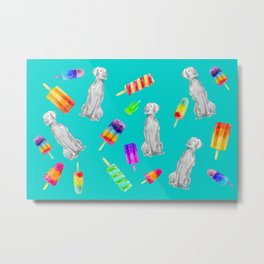 WEIMS AND POPSICLES Metal Print