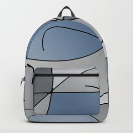 ABSTRACT CURVES #1 (Grays) Backpack