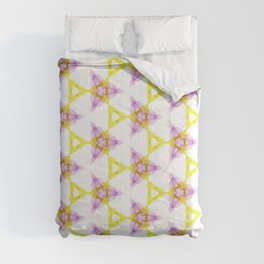 Bright Yellow Lilac Pattern Design Comforters
