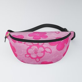 Pink Hibiscus And Honu Turtles Fanny Pack