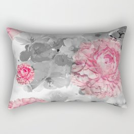 ROSES PINK WITH CHERRY BLOSSOMS Rectangular Pillow