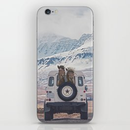 NEVER STOP EXPLORING ICELAND iPhone Skin
