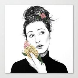 Delicate rose - floral portrait 1 of 3 Canvas Print