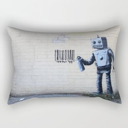 Banksy, Robot Rectangular Pillow