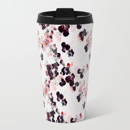 Red and Black Pansies petals Travel Mug