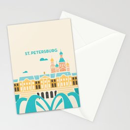 St. Petersburg Fountains Stationery Cards