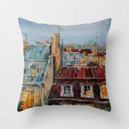 Roofs of Prague Throw Pillow