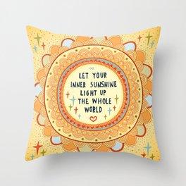 Inner sunshine Throw Pillow