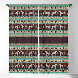 Boho dogs | Great dane sunset Blackout Curtain