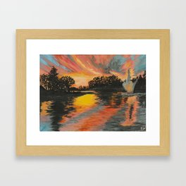 Jarry Parc at Sunset  Framed Art Print