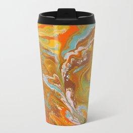 Orange Fizz Metal Travel Mug