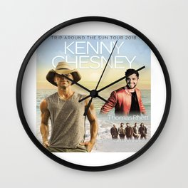 New Kenny Chesney tour 18 Wall Clock