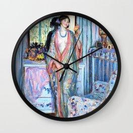 The Robe - Frederick Carl Frieseke Wall Clock
