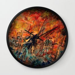 obscured by silence Wall Clock