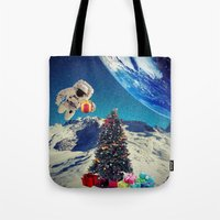 christmas tree Tote Bags featuring Christmas Tree by Cs025