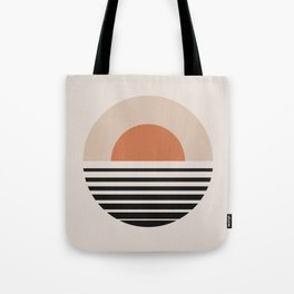 Sunset Gradient Abstract - Bold Neutral Tote Bag
