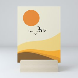 Abstract seascape I Mini Art Print