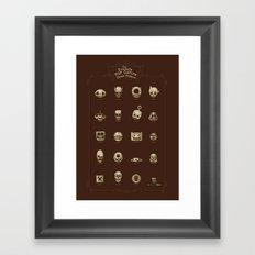 The Exquisite Pop Culture Skulls Museum Framed Art Print