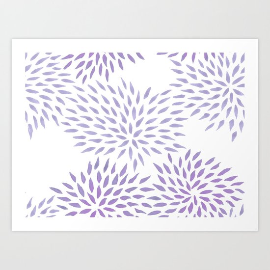 Summer Mums in lilac Art Print