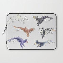 Bear-Shark Watercolor Laptop Sleeve