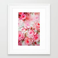 shabby chic Framed Art Prints featuring Shabby Chic Pink by Jacqueline Maldonado