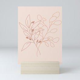 Eucalyptus Line Art Mini Art Print
